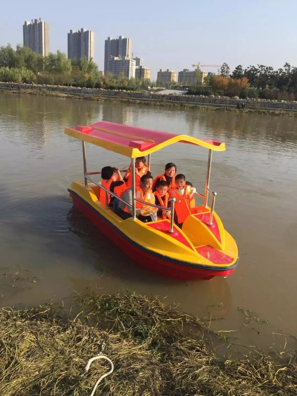 水仙女自排水双体电动船